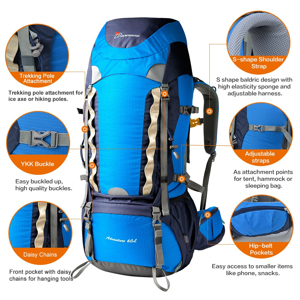 Amazon.com : Mountaintop Outdoor Waterproof Hiking Climbing ...