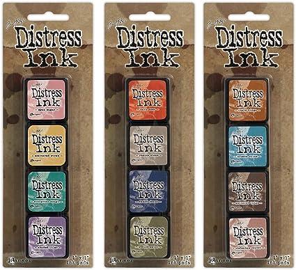 Tim Holtz ~ DISTRESS MINI INKS ~ Set 9 ~ 4 Pads ~ Ranger