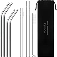 Stainless Steel Straws FDA Approval, GOMMLE Reusable Metal Drinking Straws
