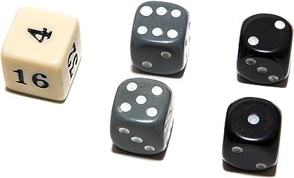 Bello Games Uria Stone Backgammon Dice Sets-Grey//Blue