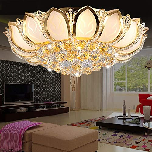 Luxury Crystal Chandeliers Modern Flush Mount Ceiling Light Pendant Lamp Fixture