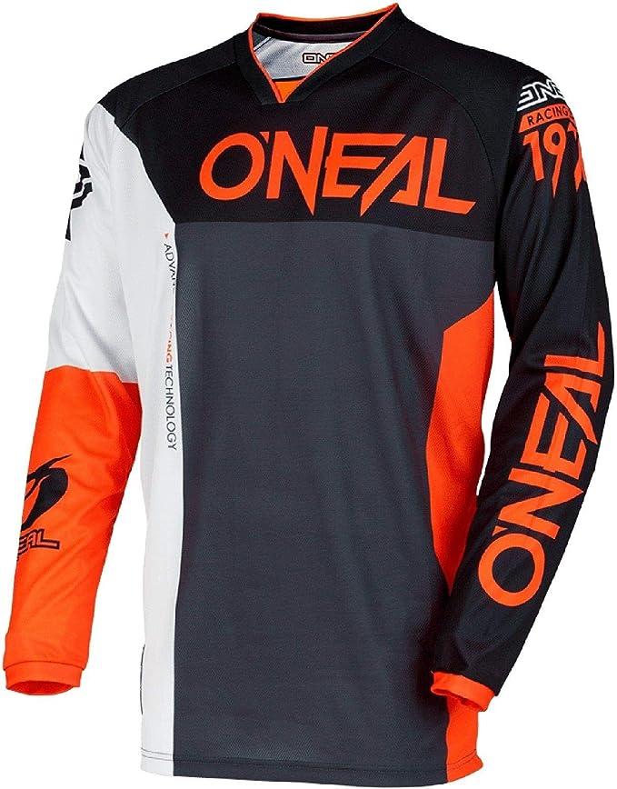 O Neal Mayhemiteplit Jersey Für Erwachsene Schwarz Orange Größe L Bekleidung