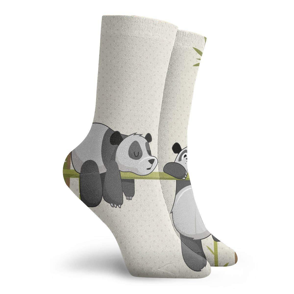 WEEDKEYCAT Cute Panda Sleeping Bamboo Adult Short Socks Cotton Fun Socks for Mens Womens Yoga Hiking Cycling Running Soccer Sports