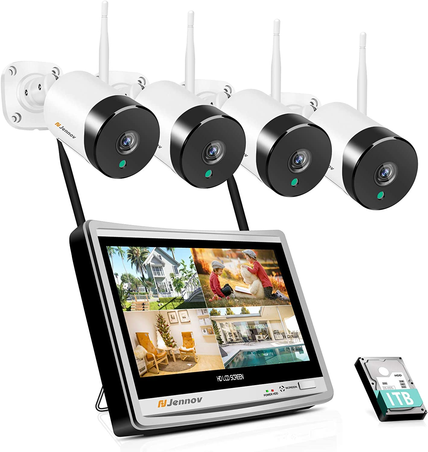 Security Camera System Wireless All in one with 12