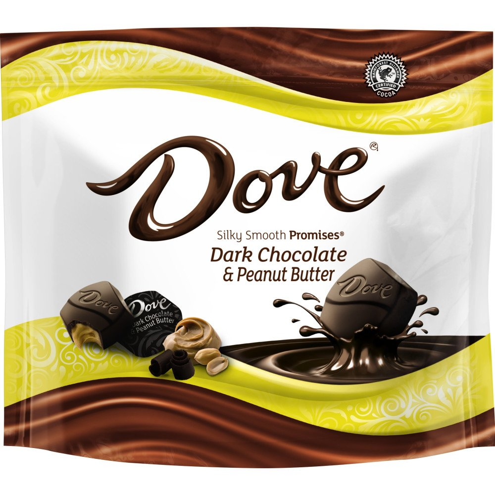 Dove Promises Peanut Butter and Dark Chocolate Candy Bag, 7.61 Oz