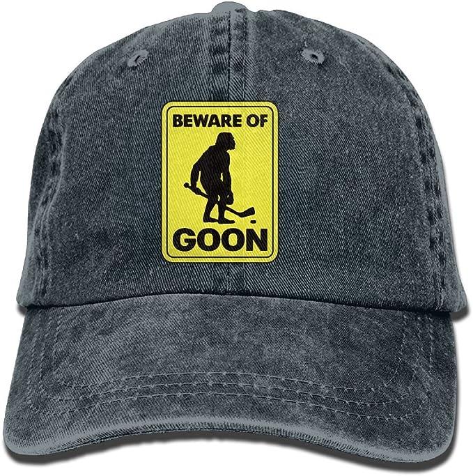 XZFQW Beware Of Goon Hockey Trend Printing Cowboy Hat Fashion Baseball Cap For Men and Women Black