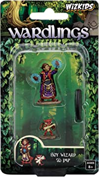 WizKids Wardlings Boy Wizard and Imp Painted Fantasy Miniatures Set: Amazon.es: Juguetes y juegos