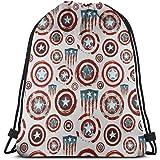 7fdcc9dc8 MPJTJGWZ Classic Drawstring Bag-Captain America Gym Backpack Shoulder Bags  Sport Storage Bag for Man