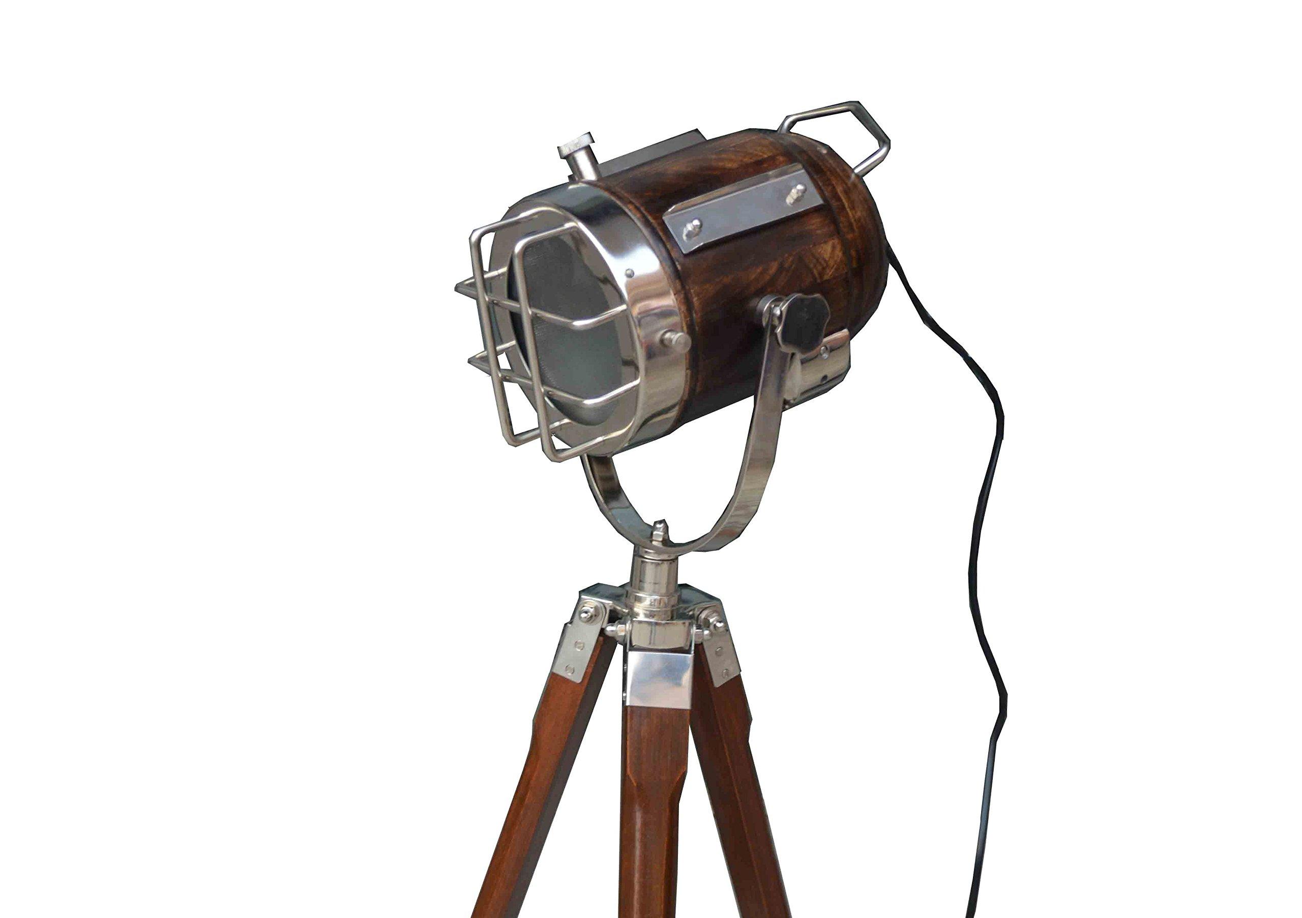 DESIGNER STUDIO FLOOR LAMP TRIPOD SEARCHLIGHT HOME DECOR LIGHT by Nautical India (Image #2)