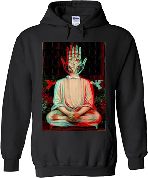 Amazon.com: Tradicional Buda Trippy Yoga mano novedad Negro ...