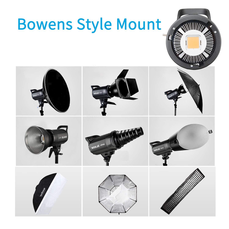 Godox SL-60W 60W LED Studio Light,5600±300K Remote Control, Continous LED Lighting with Bowens Mount for Outdoors,DSLR, Canon, Nikon, Pentax, Panasonic,Sony, Olympus Digital SLR Cameras by Godox (Image #5)