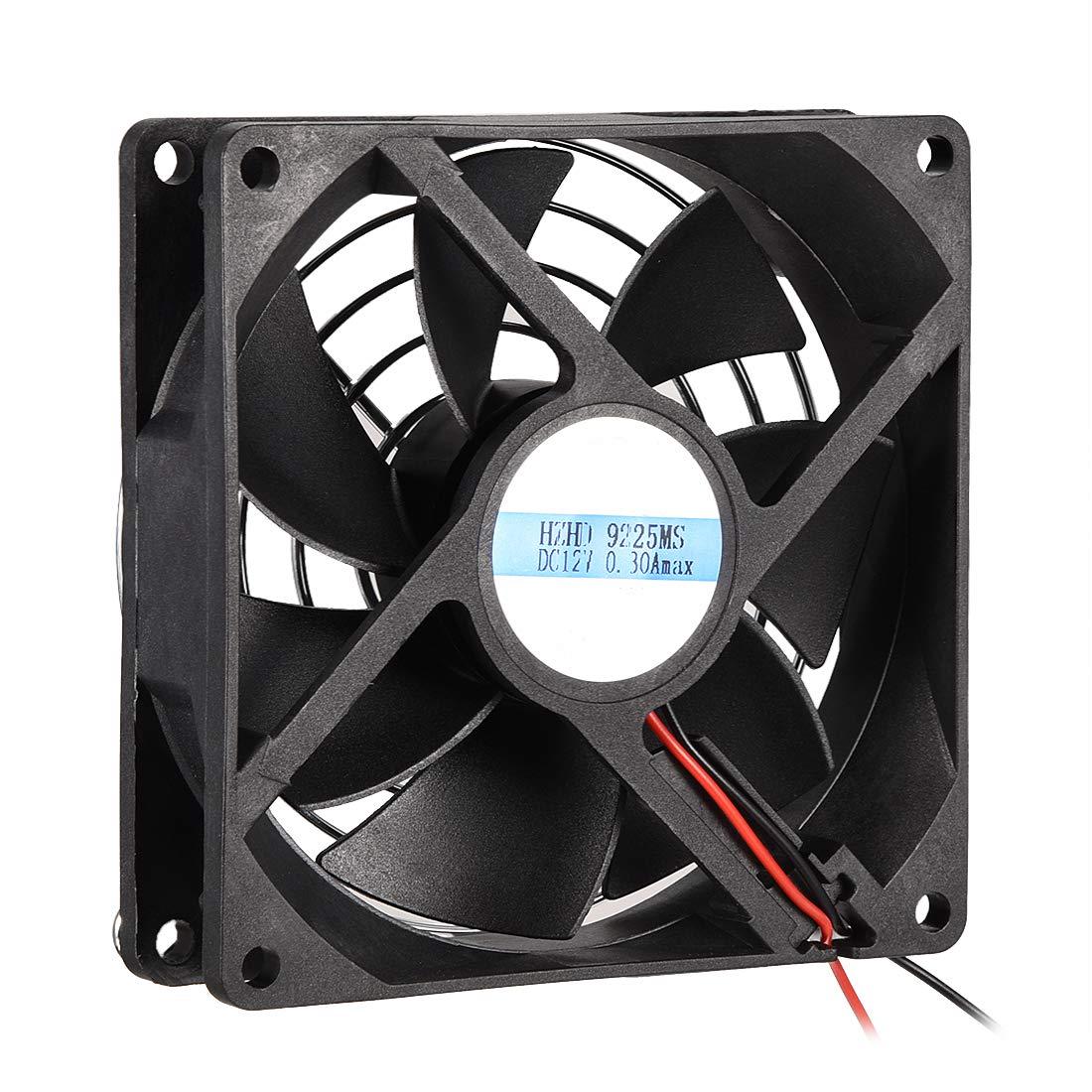 uxcell Cooling Fan 92mm x 92mm x 25mm 9225MS DC 12V 0.25A Long Life Sleeve Bearings with Metal Protector