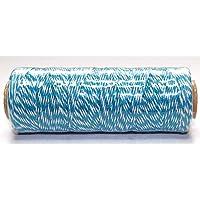 Rollo de 100metros algodón Bakers Twine–1mm–4capas–Color Azul Océano