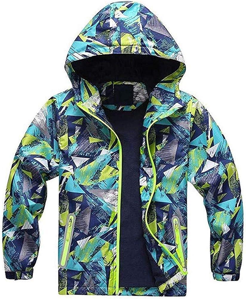 GorNorriss Baby Girl Coat Children Kids Outdoor Waterproof with Hoodie Jacket Keep Warm Clothes
