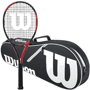 Amazon.com: Wilson BLX Fierce Pre-Strung Midplus 16x19 Kit ...