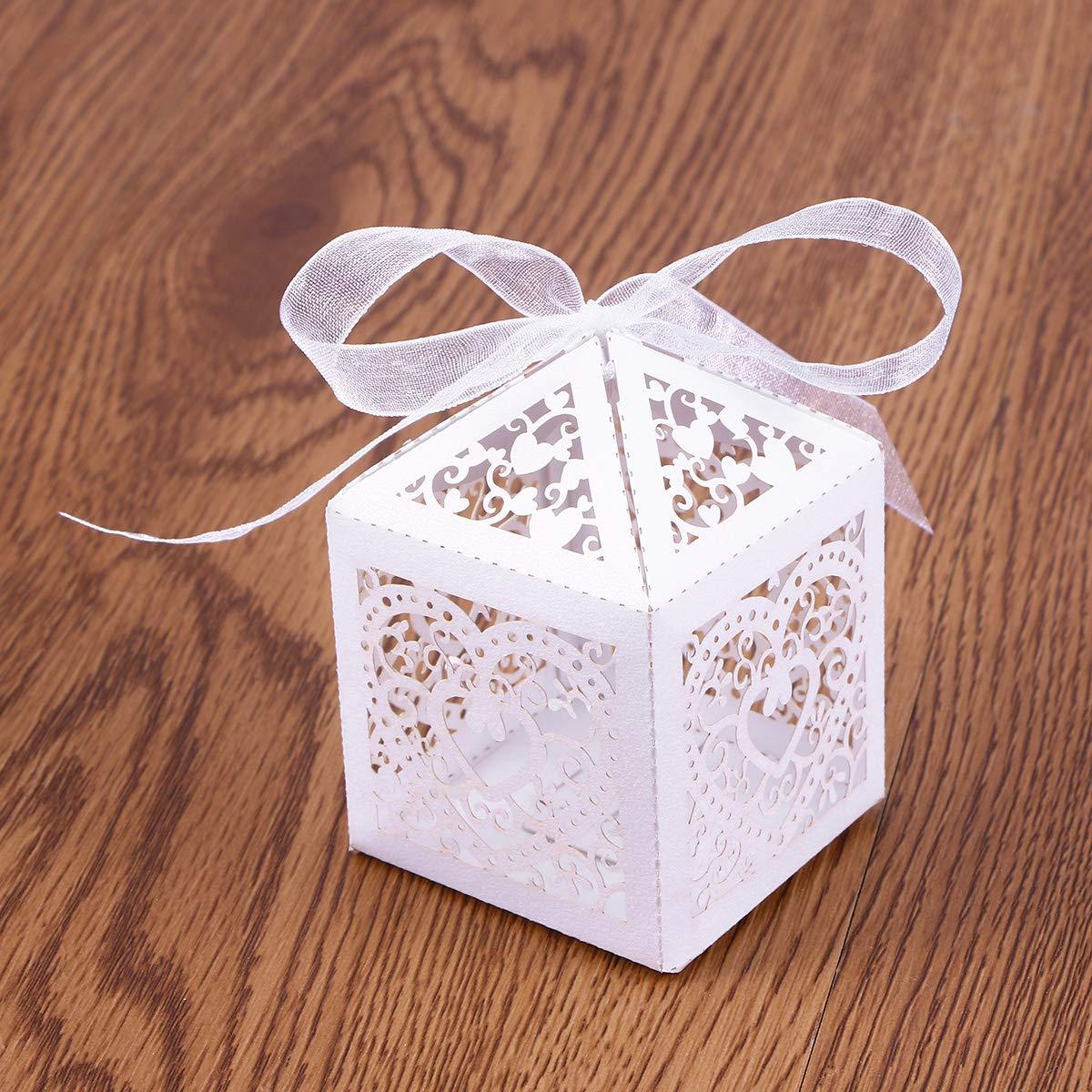 Amazon.es: YeahiBaby Cajas de Caramelos Bombones Dulce Chocolate de Papel Cajas de Regalo para Fiesta Boda Decoraciones del Regalo de Cumpleaños Laser 50 ...