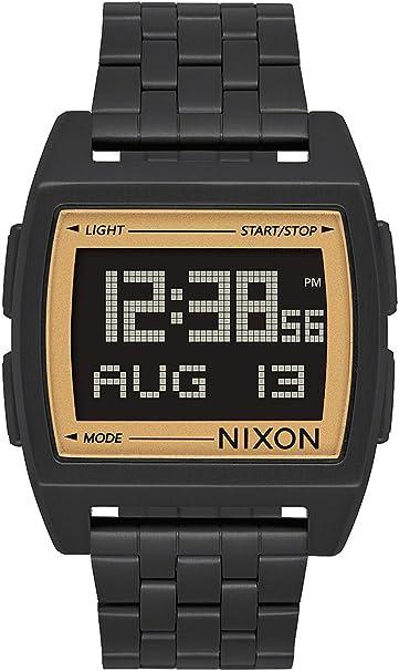 Nixon The Base Reloj para Hombre Digital de Cuarzo con Brazalete de Acero Inoxidable A11071031