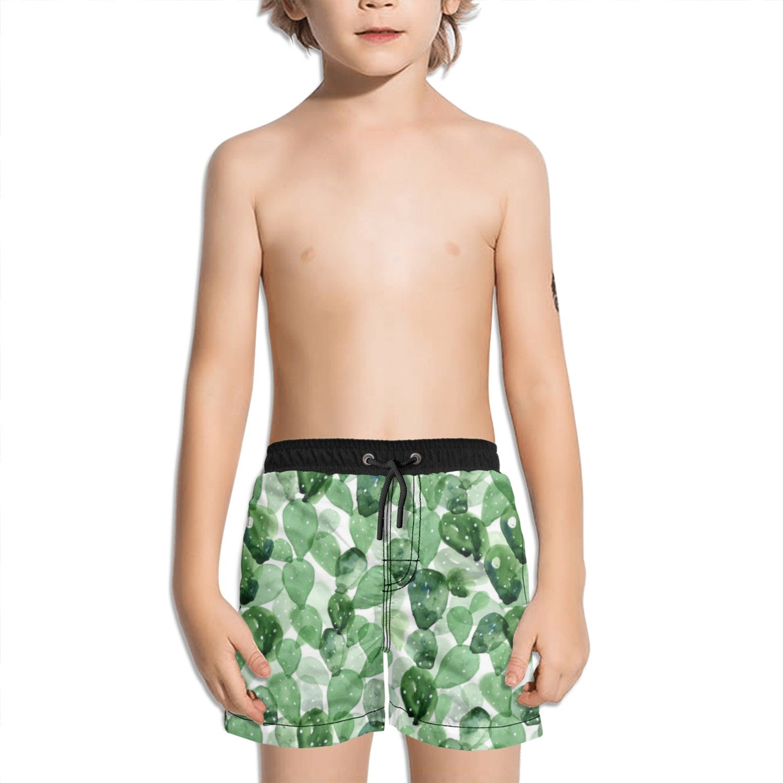Trum Namii Boys Quick Dry Swim Trunks Cacti Cactus Love Shorts