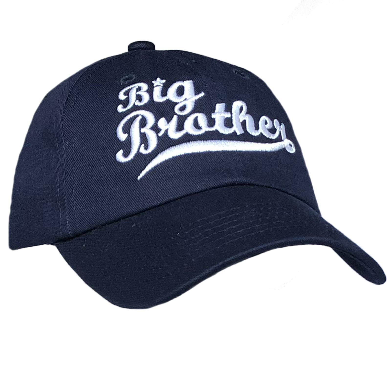 Tiny Expressions Toddler Boys' Embroidered Big Brother Baseball Hat Gift (Navy, 6-10 Years)