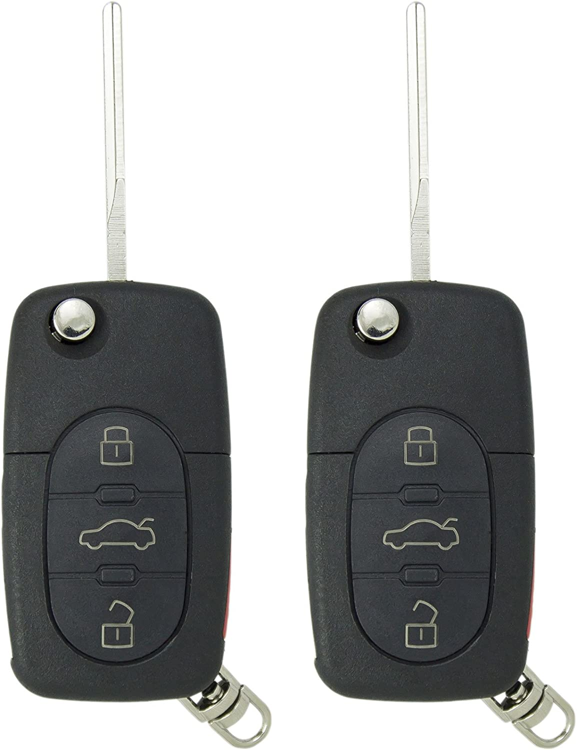 2 Pack Keyless2Go New Keyless Entry Remote Car Key Fob for Vehicles That Use 1J0959753F