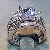 Daoroka Rings 2-in-1 Womens Vintage White Diamond