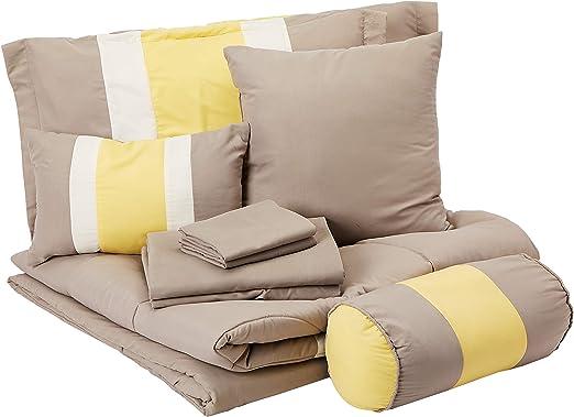 King Chic Home 10-Piece Serenity Comforter Set Black