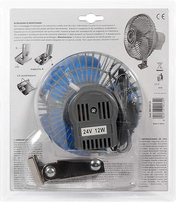 CORA 000120134 Ventilador oscilante de 24 V.: Amazon.es: Coche y moto