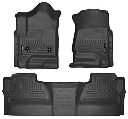 Husky Liners 98231 Black Weatherbeater Front & 2nd Seat Floor Liners Fits 2014-2018 Chevrolet
