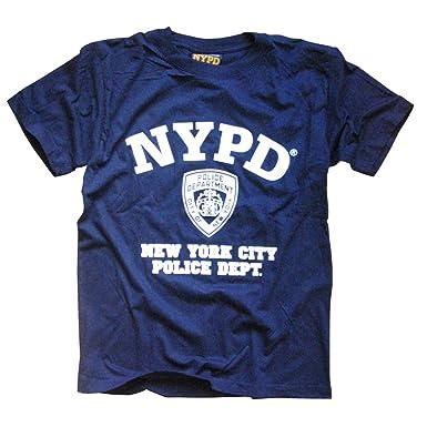 9bcc26eda NYPD T-Shirt - New York City Police Department Shield Logo Tee XXL: Amazon. co.uk: Clothing
