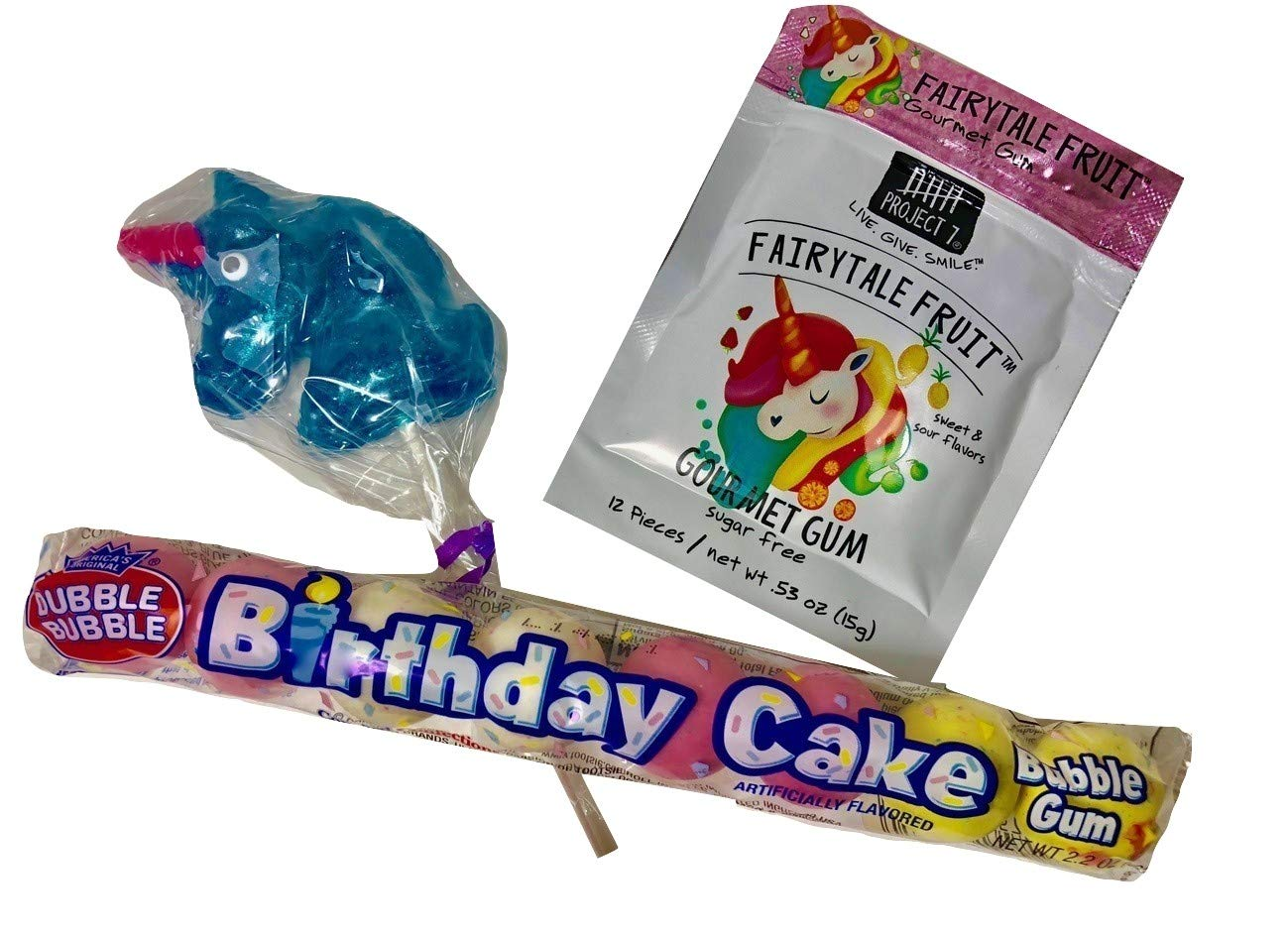 Stuffed Unicorn Birthday Gift Basket Box for Girls Cosmetic Bag Treats and More 9 Pieces