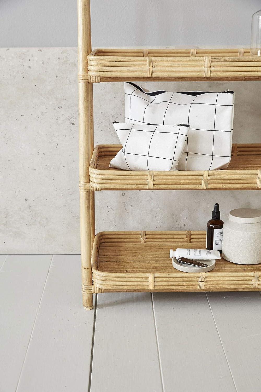 l: 32 cm Squares w: 8 cm Viskose Wei/ß Wool h: 20 cm House Doctor 203590900 Kulturtasche Baumwolle Polyester