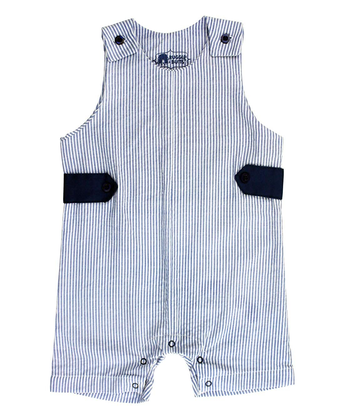d21ffc673 Amazon.com: RuggedButts Baby/Toddler Boys Jon Jon Romper One-Piece Overall  Shortall: Clothing