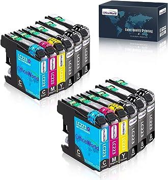 Imagen deOfficeWorld Cartuchos de impresora para Brother MFC-J5320DW DCP-J4120DW MFC-J420DW MFC-J5625DW MFC-J4620DW MFC-J4420DW MFC-J880DW MFC-J4625DW DCP-J562DW 6 Negro, Cian 2, 2 magenta, amarillo 2