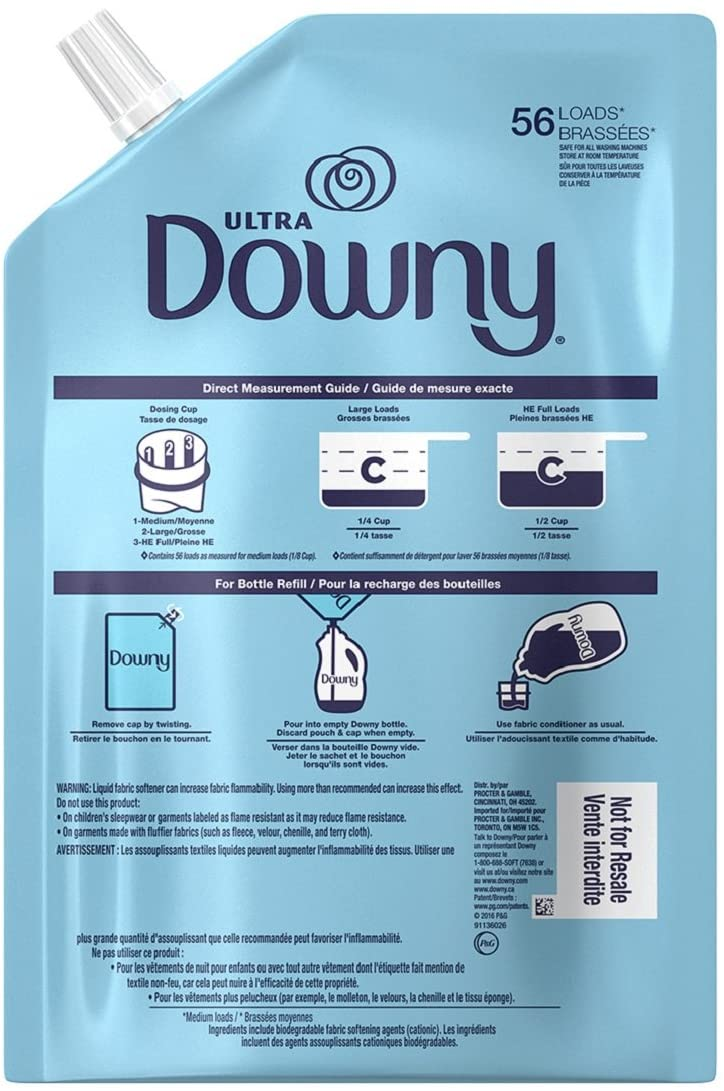 Downy Ultra Liquid Fabric Conditioner (Fabric Softener), April Fresh, 48 Oz Smart Pouches, 3 Pack, 168 Loads Total: Health & Personal Care