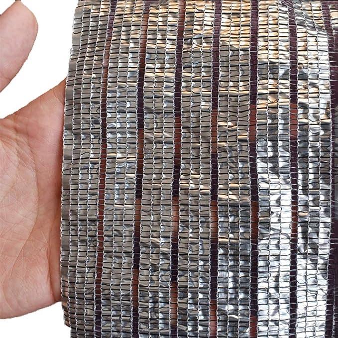 Caixia Malla de Sombra, Red de sombreado, Reflejo al Aire Libre, Protector Solar, Cubierta de balcón, Papel de Aluminio de Alta Densidad, Polietileno, Tela (Size : 10x10m): Amazon.es: Hogar