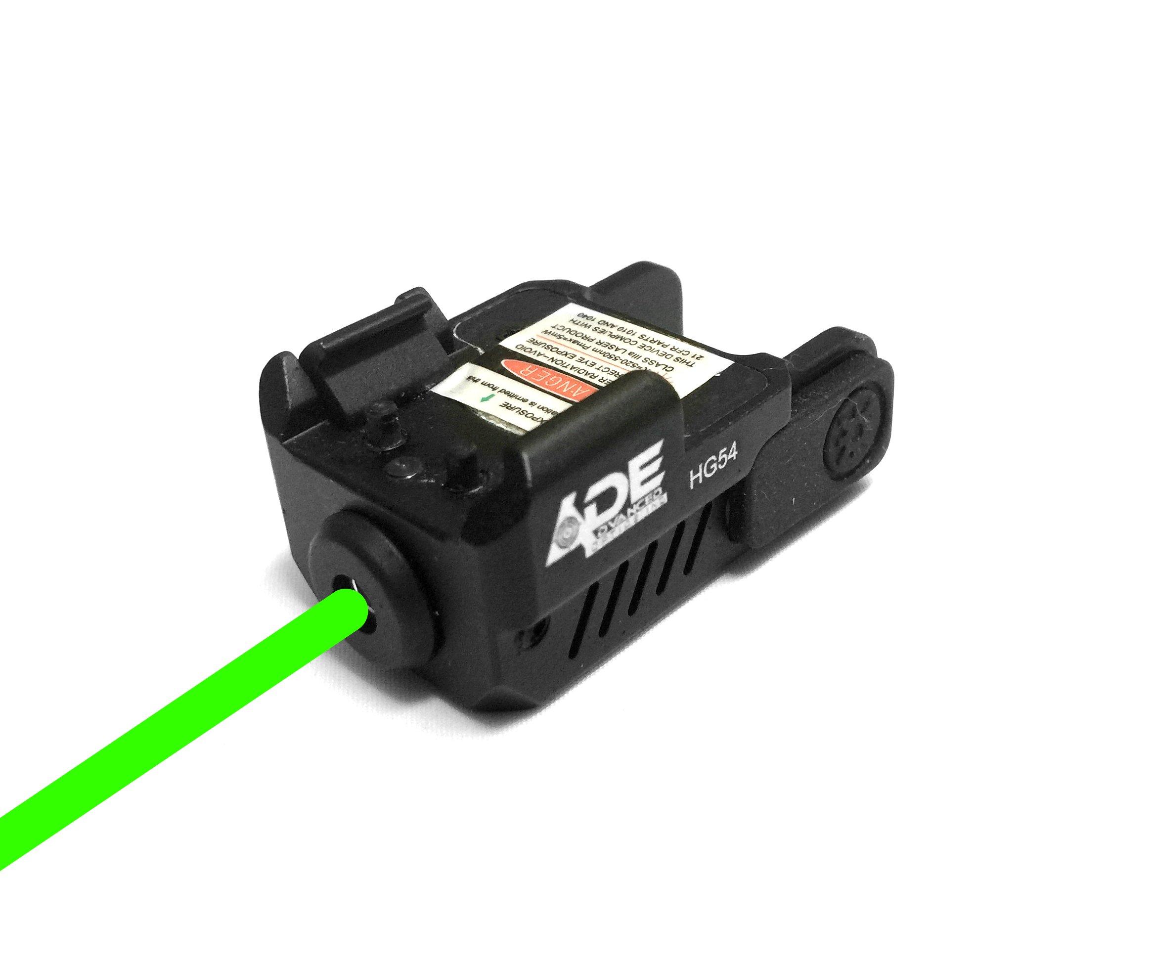Ade Advanced Optics HG54G Strobe Laser Sight for Pistol Handgun, Green by Ade Advanced Optics