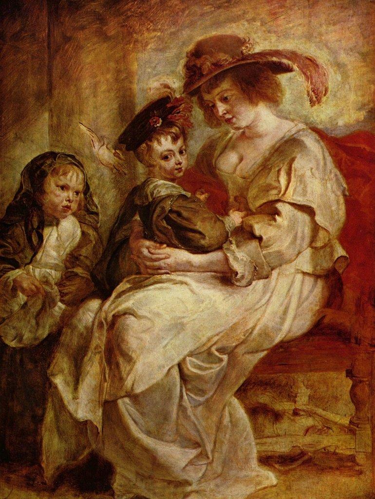 Lais Puzzle Peter Paul Rubens - Porträt der Hélène Fourment mit zweien ihrer Kinder 2000 Teile