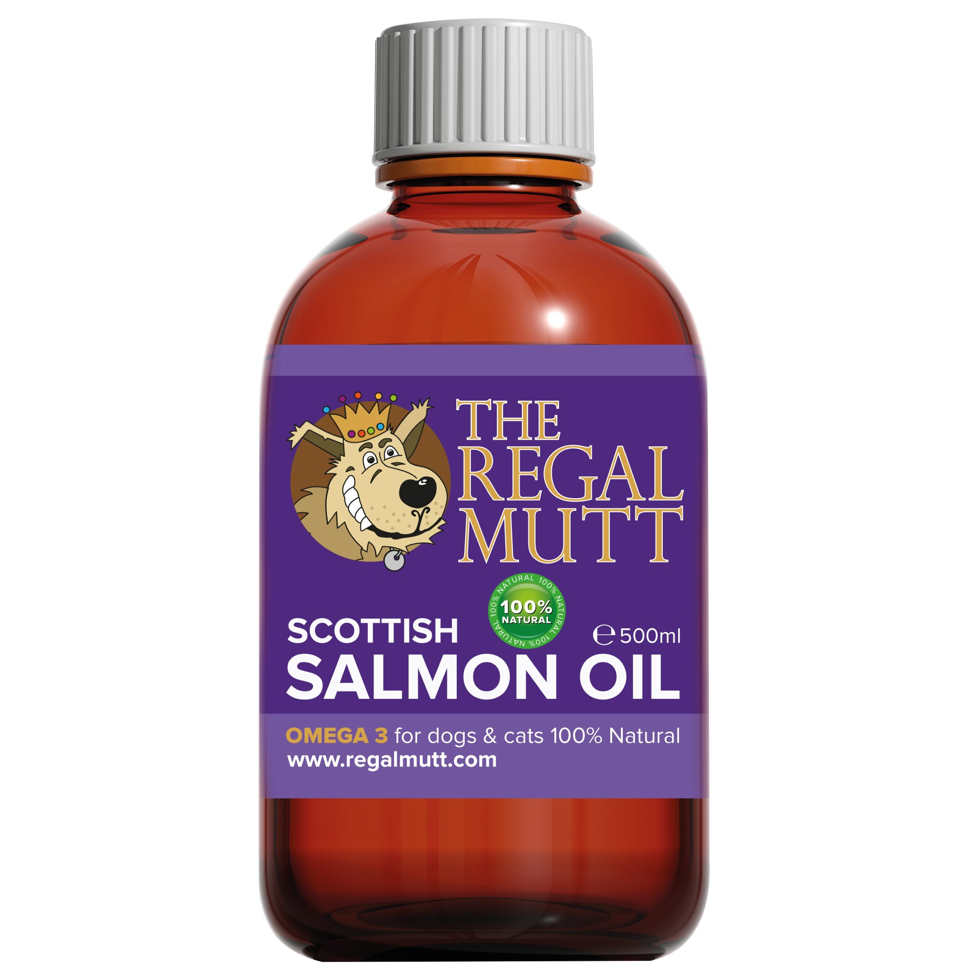 The regal mutt 500 ml salmon fish oil for dogs charity for Dog food with fish oil