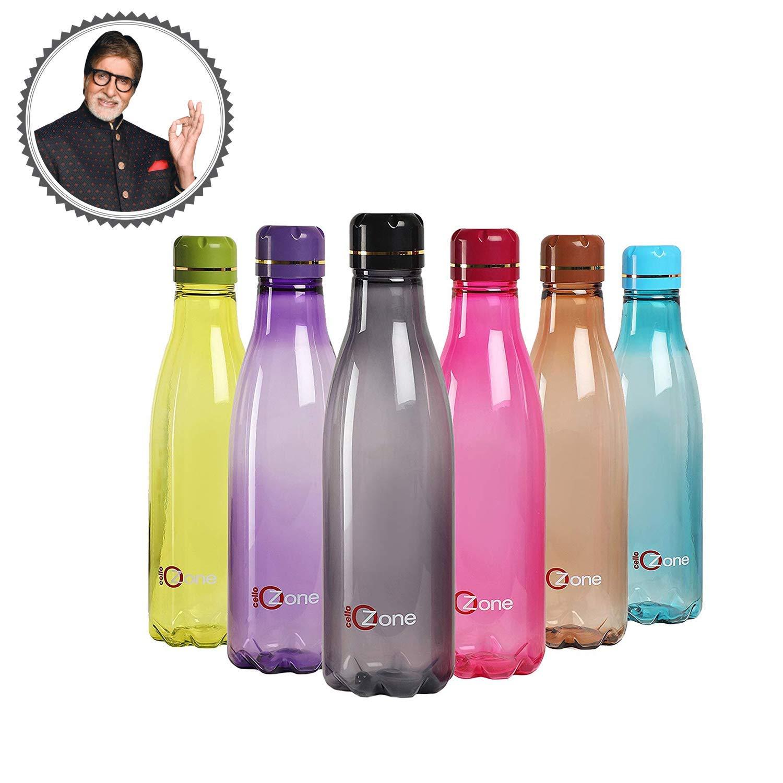 Plastic Water Bottle Set, 1 Litre, Set of 6
