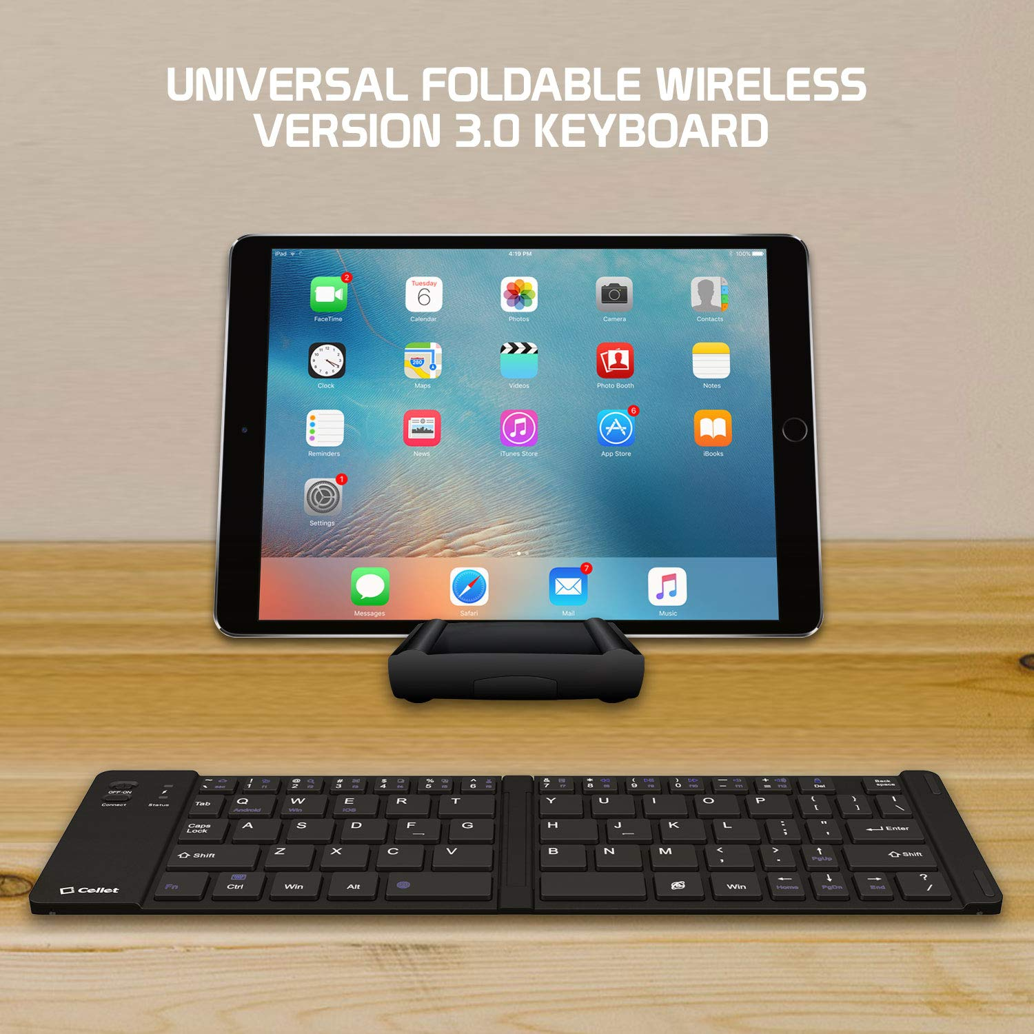 Cell-Stuff Wireless Folding Keyboard with Stand Compatible w/Moto G7 Power by Cell-stuff (Image #4)