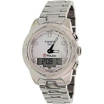 Tissot Reloj Analógico-Digital para Mujer de Cuarzo con Correa en Acero Inoxidable T047.220.44.116.00: Tissot: Amazon.es: Relojes
