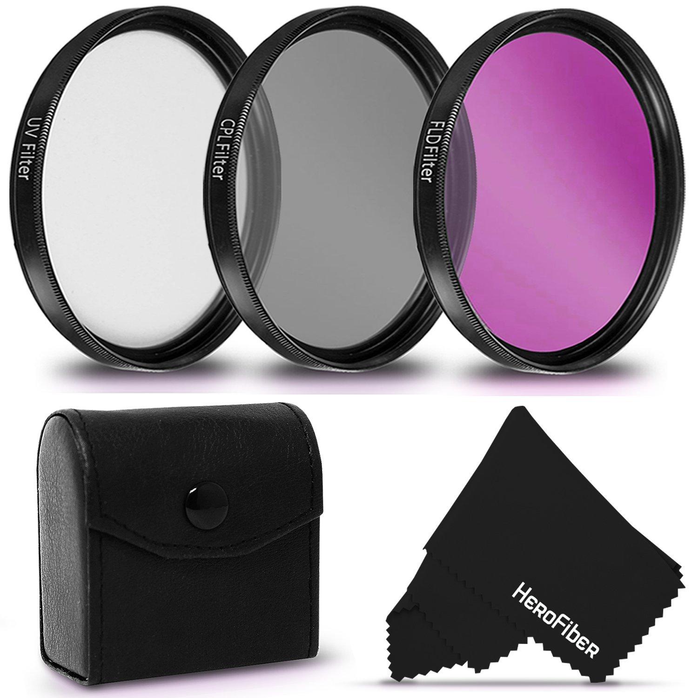 3 Piece High Definition 52mm Filter SET with Protective Case for NIKON D5500, D5300, D5200, D750, D7200, D7100, D7000, D5100, D810, D810A, D800, D610, D600, D3300, D3200, D3100, 1 V1, D4, D4S, D3, D3X, D3S DSLR Cameras