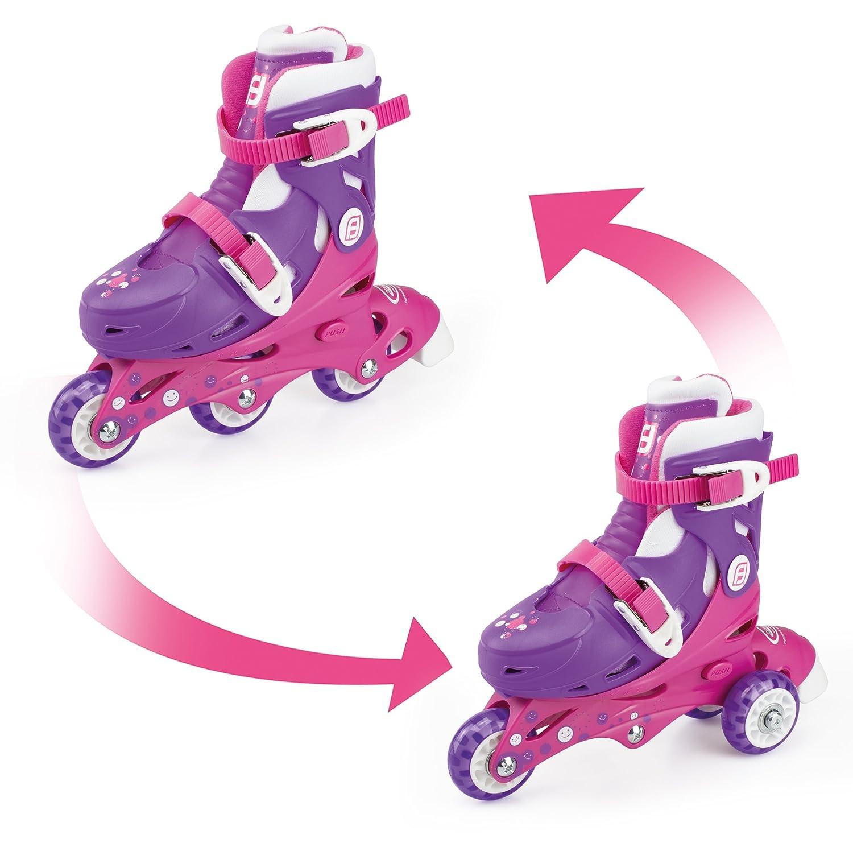 Fun Bee Rollers Inline (3 roues) Patines 2 EN 1 FUNBEE Rosa (Ajustable 27-30), Color Morado (DARYO|#D'Arpèje OFUN084-F) DARYO|#D'Arpèje