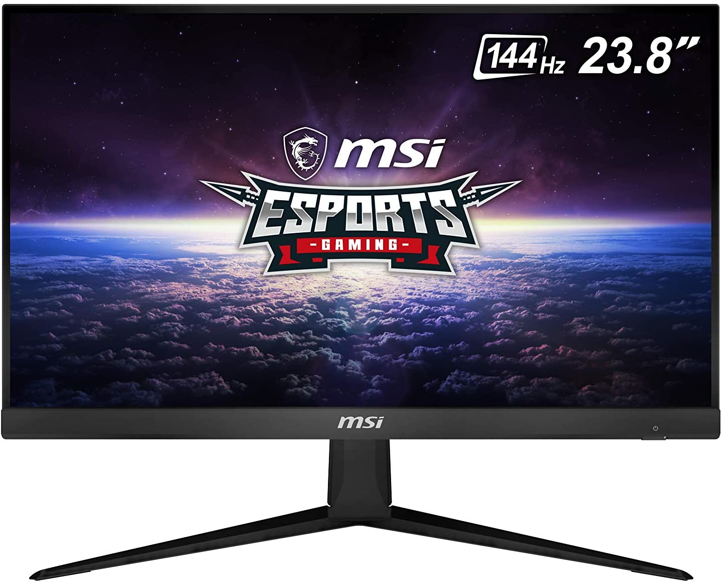 "MSI 24"" FHD (1920 x 1080) Non-Glare with Super Narrow Bezel 144Hz 1ms 16:9 HDMI/DP AMD Radeon FreeSync IPS Gaming Monitor (OPTIX G241), Black"