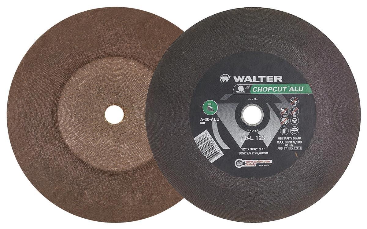 14 in Pack of 10 Metal Cutting Abrasives - A-30-ALU Grit Abrasive Wheel Cutting wheel with Arbor Hole Walter 10L143 CHOPCUT ALU Performance Cutoff Wheel