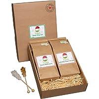 TeaLaVie - Wintertee | Green Xmas Set | 2er Set Winter Grüntee | Weihnachtstee - loser hochwertiger Grüner Tee in nachhaltigem Design für Teeliebhaber, ideal als Geschenk | 200g, Grüntee lose