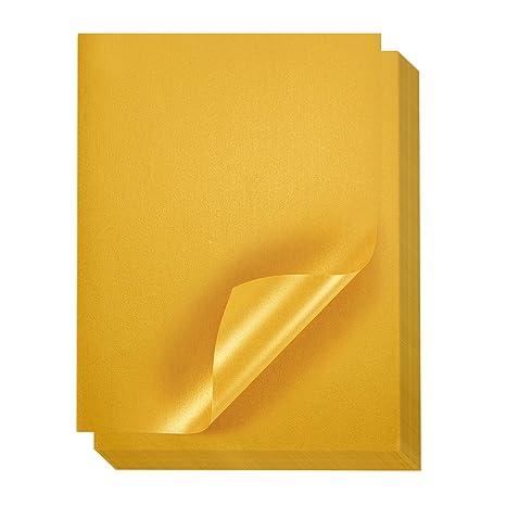 Gold Metallic Papier, 96 PACK – Shimmer Papier – Doppelseitig – Laser Drucker freundlich – Perfekt für Hochzeiten, Baby Dusch