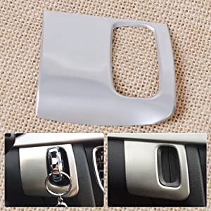 Huanlovely Stainless Steel Dash Lgnition Keyhole Molding Cover Trim Fit for Audi A4 A5 2009 2010 2011 2012 2013 2014 2015