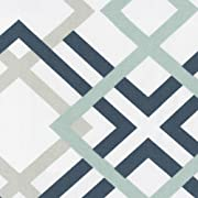 Carousel Designs Navy and Gray Geometric Fabric by the Yard