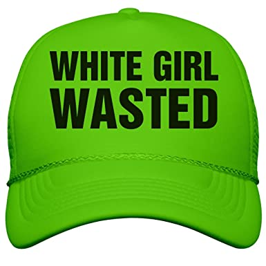 Amazon.com  White Girl Wasted Neon  Neon Snapback Trucker Hat  Clothing 0c8ca575ced